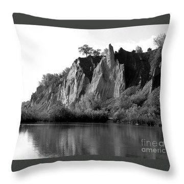 Bluffers Park Toronto Canada Throw Pillow by Susan  Dimitrakopoulos