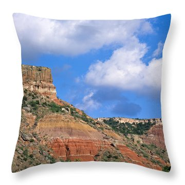 Bluffs In The Glass Mountains Throw Pillow