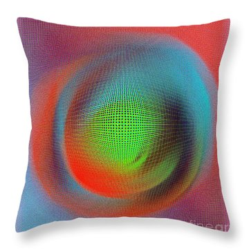 Blur Throw Pillow by Iris Gelbart