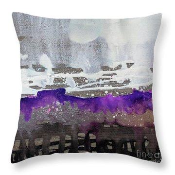 Blurred Fence Throw Pillow
