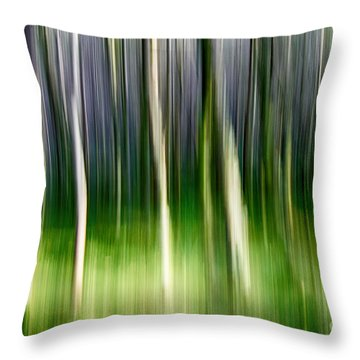 Throw Pillow featuring the photograph Blurred by Juergen Klust