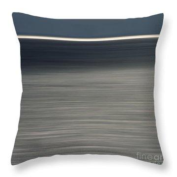 Blurred Sea Throw Pillow by Bernard Jaubert