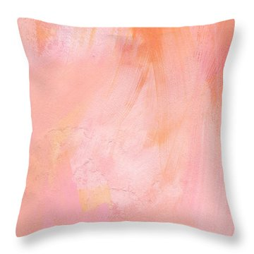 Blush- Abstract Painting In Pinks Throw Pillow