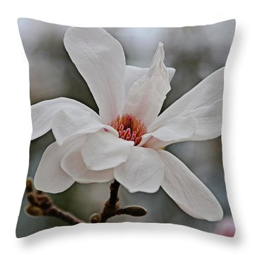 Throw Pillow featuring the photograph Blush Of Spring by Linda Brown