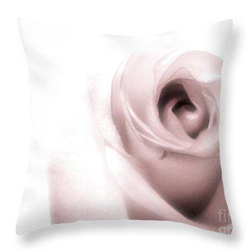 Blush Throw Pillow by Peggy Hughes