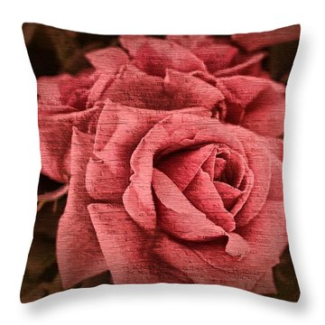 Throw Pillow featuring the photograph Blush by Wallaroo Images