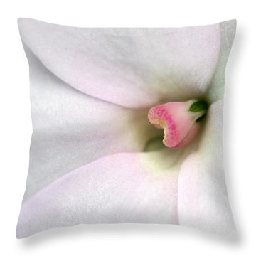Blushed Throw Pillow by Sabrina L Ryan
