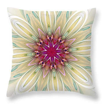 Blushing Colors Throw Pillow