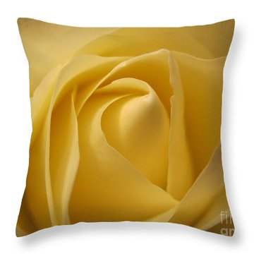 Blushing Cream Rose  Throw Pillow