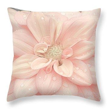 Blushing Dahlia Throw Pillow