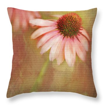 Throw Pillow featuring the painting Blushing by Linda Blair