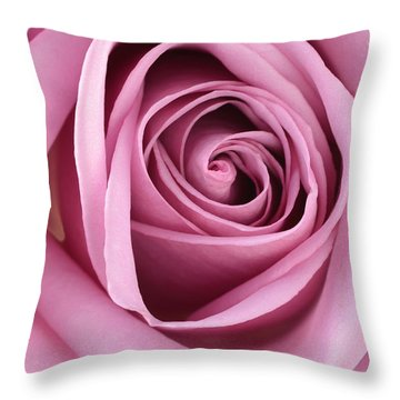 Blushing Pink Rose Throw Pillow