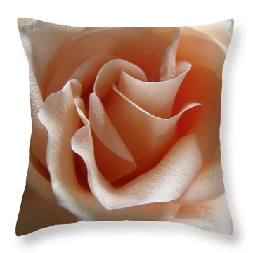 Throw Pillow featuring the photograph Blushing Rose by Margie Amberge