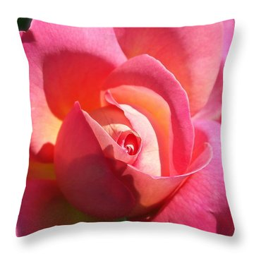 Blushing Rose Throw Pillow by Michele Myers