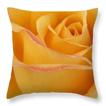 Blushing Yellow Rose Throw Pillow