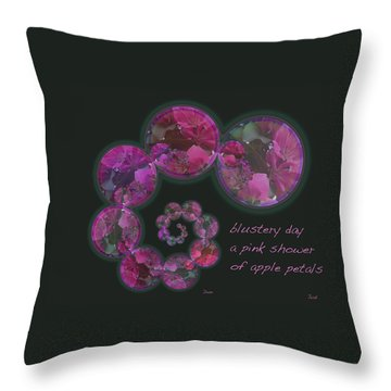 Throw Pillow featuring the photograph Blustery Day Haiga by Judi and Don Hall