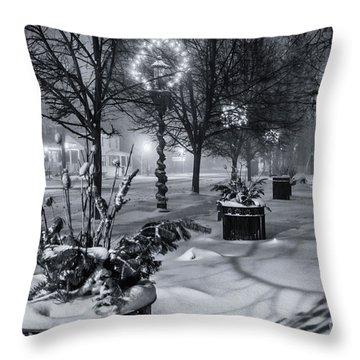 Blustery Winter Night Throw Pillow