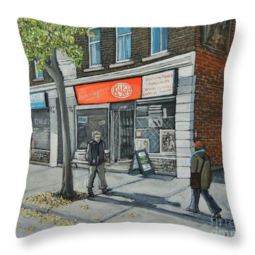 Blvd Monk Ville Emard Throw Pillow by Reb Frost