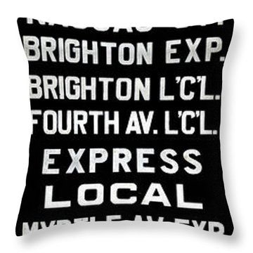 Bmt Subway Roll Sign Throw Pillow