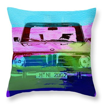 Bmw 2002 Front Watercolor 1 Throw Pillow by Naxart Studio