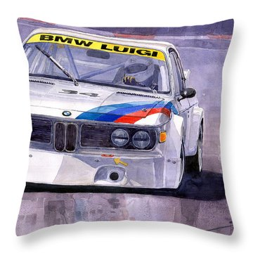 Bmw 3 0 Csl 1972 1975 Throw Pillow by Yuriy  Shevchuk