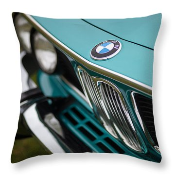 Bmw 3.0 Cs Front Throw Pillow by Mike Reid