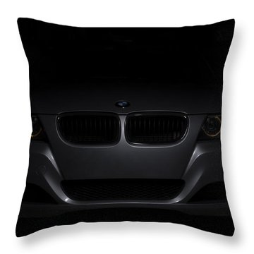 Bmw Car In Black Background Throw Pillow