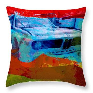 Bmw Laguna Seca Throw Pillow by Naxart Studio