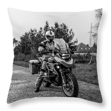 Bmw R 1200 Gs Throw Pillow