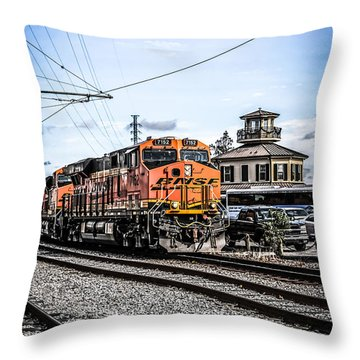 Bnsf C44-9w Locomotive Throw Pillow