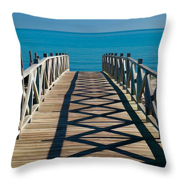 Board To Med Throw Pillow by Piet Scholten