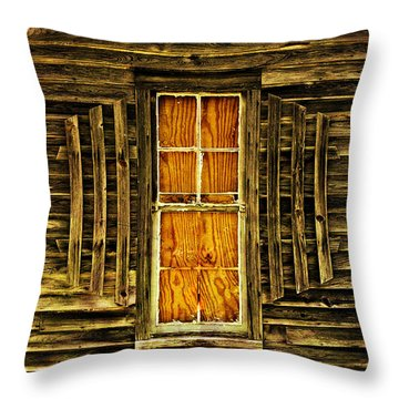 Boarded Window Throw Pillow by Marty Koch