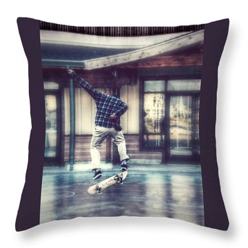 Boarder Bliss Throw Pillow by Melanie Lankford Photography