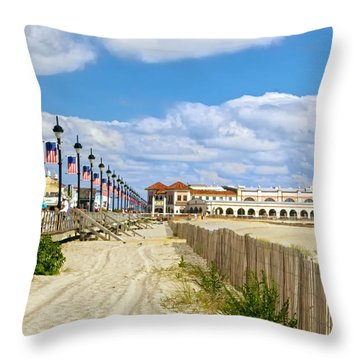 Boardwalk And Music Pier Throw Pillow