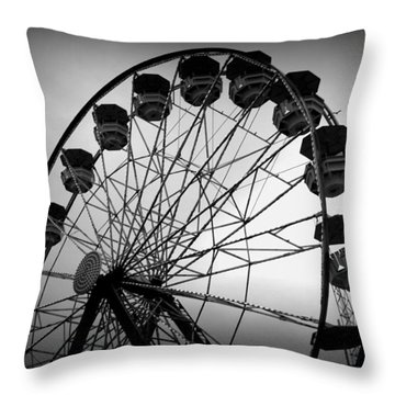 Throw Pillow featuring the photograph Boardwalk Beauty by Laurie Perry