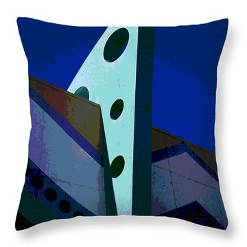 Boardwalk Blue Throw Pillow by James Harper