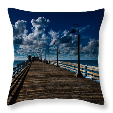 Boardwalk Blues  Throw Pillow by Cecil K Brissette