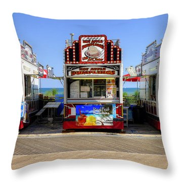 Throw Pillow featuring the photograph Boardwalk Dining by Glenn DiPaola