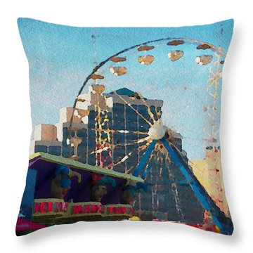 Boardwalk Ferris  Throw Pillow by Alice Gipson