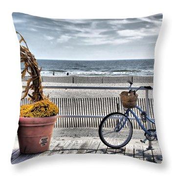 Boardwalk    Hdr Throw Pillow by Thomas  MacPherson Jr