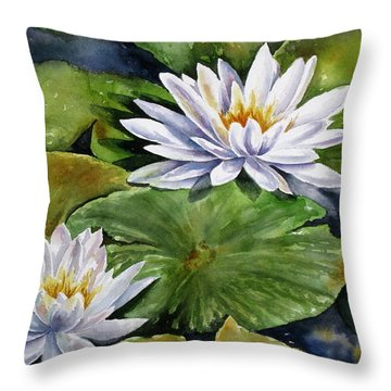 Boardwalk Lilies Throw Pillow
