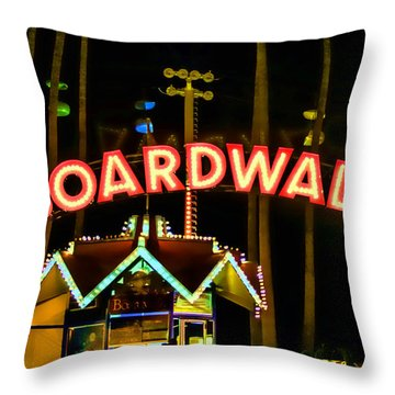 Boardwalk Throw Pillow by Digital Kulprits