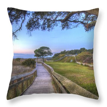 Boardwalk To History Throw Pillow