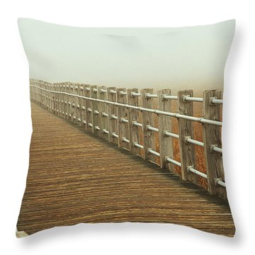 Boardwalk To The Unknown Throw Pillow by Karol Livote