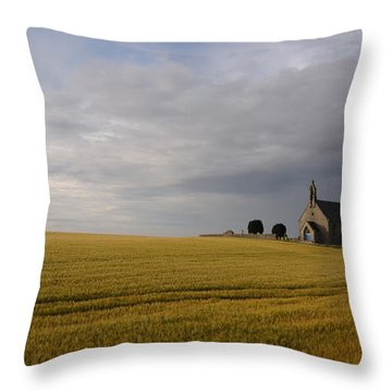 Boarhills Church Throw Pillow by Jeremy Voisey
