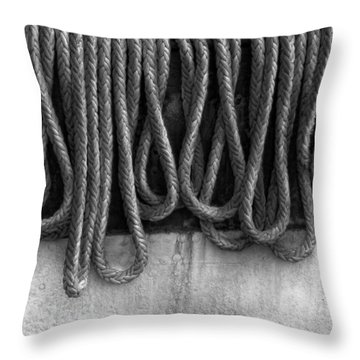 Boat - Abstract - Fit To Be Tied Throw Pillow by Mike Savad