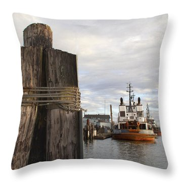Throw Pillow featuring the photograph View From The Pilings by Suzy Piatt