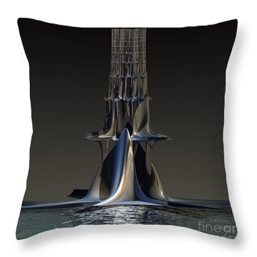 Throw Pillow featuring the digital art Boat Dock by Melissa Messick