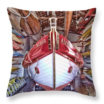 Boat Frenzy Throw Pillow by Pauline Flesseman