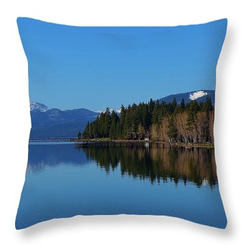 Boat House Lake Tahoe Throw Pillow